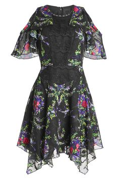 New Anna Sui Printed Dress with Lace fashion online. [$281]?@shop.sladress<<