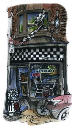 Rude Boy in Roncesvalles Village. Cool Online Art by Toronto Artist David Crighton Framed Art Prints, Canvas Prints, High Contrast Images, Rude Boy, Canadian Artists, Cool Paintings, Custom Art, Art Reproductions, Artist Art