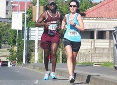 half-marathon 1385 Gina Tessendorf and Mloyiswa P Sibanda -Legends Marathon 2014 photo by selina vickerman-princ. Marathon, Photo Credit, South Africa, Legends, Prince, Campaign, Sporty, Content, Running