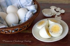 Pressure Cooker Hard Boiled Eggs (Brilliant idea from Pressure Cooking Today - great new blog about pressure cooking.)