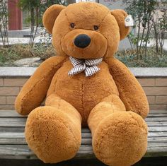Big teddy bears are every inch a bear, but at the same time are not unlike the dolls who must have the qualities we demand. Many big teddy bears have adjustable arms and legs, some can even have their heads turned from side to side. They are a precious gift of true adaptability since they can be made to crawl, climb, stand, or sit. Read here : http://cutestteddybears.com/