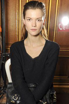 Kasia Struss in 20 make-up looks: Backstage at Balmain Fall/Winter 2013-2014