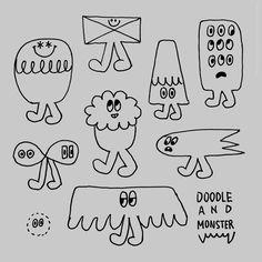 """doodlewonder: """" Doodle 160519 """" インクがドバドバ出るボールペンによる落書きより。"""