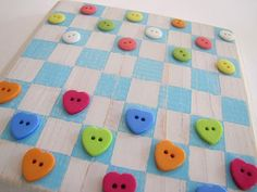 checkers-maybe do on felt and have velcro on the back to make it a car game?