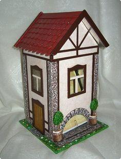 Поделка изделие День рождения Картонаж Что нам стоит дом построить? Нарисуем - будем жить Картон Краска фото 1