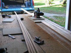 Cutting the strip with a circular saw
