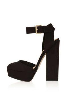 8df33acd28463 SHELLY Cutout Back Platforms - Topshop Black High Heel Sandals