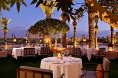 The Leading Hotels of the World offers one-of-a-kind luxury hotel experiences all over the world. Find a 5 star hotel today. Royal Palm Marrakech, Marrakech Morocco, Restaurants, Leading Hotels, Table Decorations, Luxury, World, Holiday, Hotel Royal