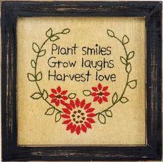 Plant Smiles Country Stitchery