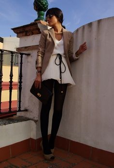 white skirt  #fashion #style #outfit