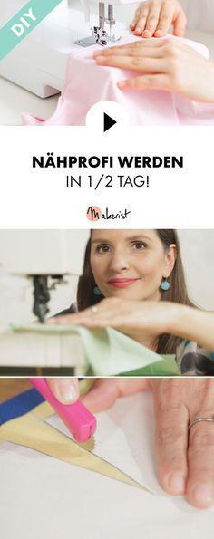Einreihen, Kräuseln, Versäubern, Rundungen und Futter nähen: Nähprofi werden - Schritt für Schritt erklärt im Video-Kurs via Makerist.de