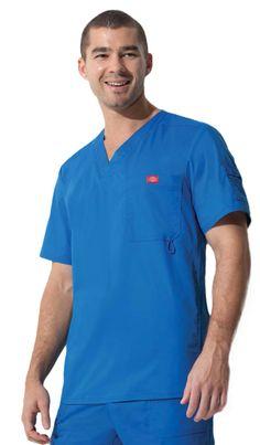 Dickies Gen Flex Scrubs Set Ceil Blue Top 817455 Pants 857455 Reg//Petite//Tall