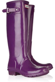 Purple Hunter boots...YES!!  Bring on the Seattle rain!