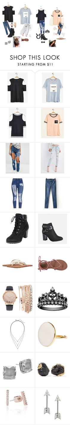 """""""easy outfits"""" by b-cartinaharris on Polyvore featuring Missguided, Refuge, Avenue, Volcom, Billabong, Jessica Carlyle, Banana Republic, Kate Spade, Dara Ettinger and yunotme"""