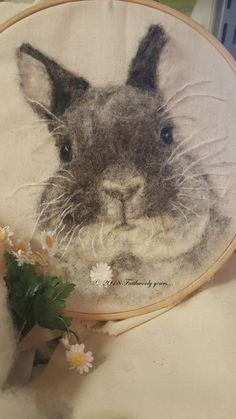 Click Visit link above for more options Wool Needle Felting, Needle Felting Tutorials, Needle Felted Animals, Wet Felting, Felt Animals, Felted Wool, Rabbit Pictures, Felt Pictures, Felt Bunny