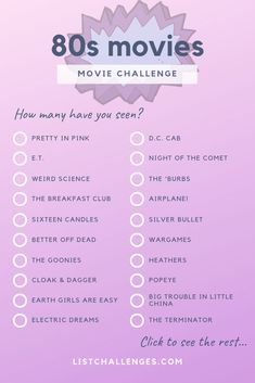 101 Movies 101 Movies,ref: lists & challenges 101 Movies ~ Movie Challenge. How many of these 101 movies from the have you seen? From comedy to sci-fi, these movies will. Bon Film, Film D'animation, Film Movie, Films Netflix, 90s Movies, Netflix Movie List, Netflix Movies To Watch, Comedy Movies List, Teenage Movies List