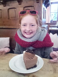 Willow eating cake her 8th birthday in Munich