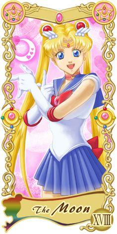 Pretty Guardian Sailor Moon Original Tarot Cards: XVIII - The Moon   by Ryukia @ Pixiv.net // #sailormoon