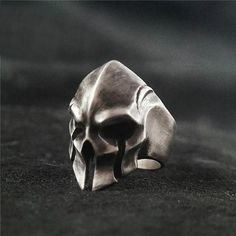 ☠☠☠ Skull Warrior Ring ☠☠☠ ☠ Made to Order Handcrafted Skull Warrior Ring created just for you. Each piece is like a treasured jewelry warriors wore thousands of years ago, the time-tested antique aesthetics and impeccable quality are timeless & best-in-class. This is a bold statement piece that matches your fearless warrior spirit, wear it to show it!  ☠ Our painstakingly handcrafted jewelry will take our artists 10-15 days to perfect, a lot of heart and soul are put into creating th...