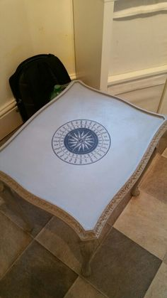 Water decal transfer laser printer upcycled furniture