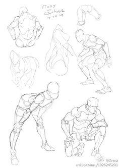 最近的習作@岑小朋友采集到人体&动态(324图)_花瓣人文艺术