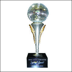 An award for dancing contest - mirror ball trophy