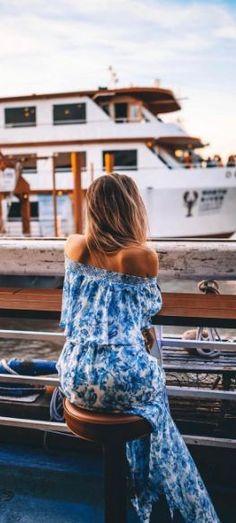 Blue maxi dress <3