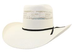 Stone Bangora Brick Crown Cowboy Straw Hat c30992bcf46d