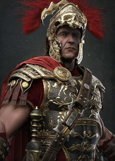 Damon Woods : Keyshot Clay renders of The Centurion. This character is featured in the cover of Artist Magazine Issue Rome Antique, Art Antique, 3d Fantasy, Fantasy Armor, Ancient Rome, Ancient History, Roman Armor, Roman Centurion, The Centurions