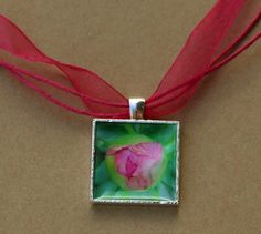 Pink Peony Necklace by Naturetopia Creations