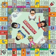 Until one of the major board game companies recognizes the genius of Gayle Force Winds, you're going to have to settle for this Bob's Burgers version of Monopoly. It comes with custom locations (obviously), and custom tokens of the Belcher family + Teddy. Monopoly Money, Monopoly Game, Monopoly Board, Fun Toys For Adults, Funko Toys, Bob S, Bobs Burgers, Love To Shop, Rick And Morty