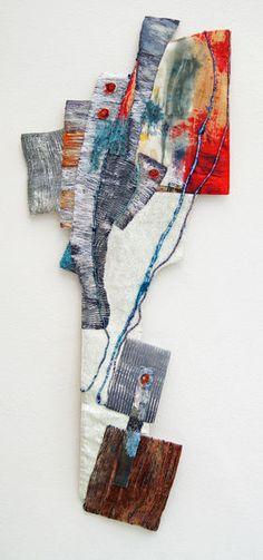 Polar - Textile work, love the baroque shape. A stiffener or board insert perhaps .....?