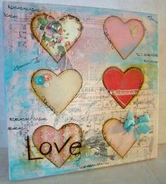 Mixed Media Hearts by Melissa for Remember This Remember That