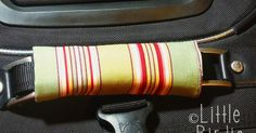how to make a luggage handle cover | Use this TUTORIAL to make sleeves for CAR SEATBELT protector