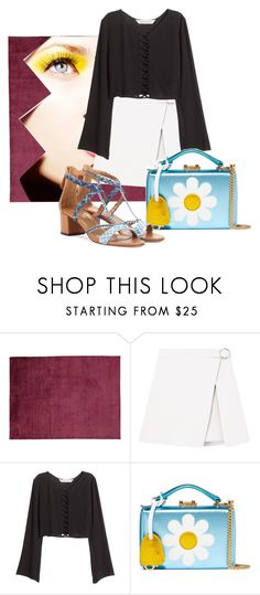 """""""Sin título #385"""" by xjustinv ❤ liked on Polyvore featuring H&M, Mark Cross and Aquazzura"""