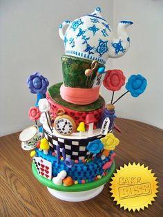 Cake boss- Alice in Wonderland cake