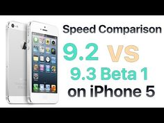 Videos: iOS 9.3 Beta 1 VS iOS 9.2 Speed Comparison test | MobileSiri