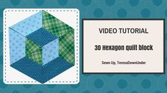 This is an easy quilt block which gives the impression of a 3D hexagon. Use your regular ruler, a 60 degree ruler or download a template instead. Download te...