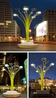 Ross Lovegrove Solar Trees in Europe