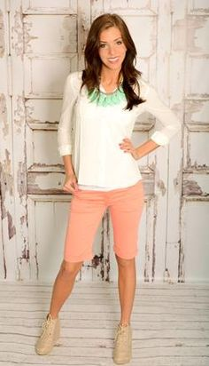 knee length shorts in lots of colors