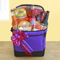 gift basket in cooler for him