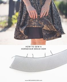 megan nielsen design diary: Tutorial // How to sew a horsehair braid hem