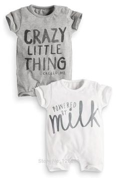 Powered By Milk crazy little thing baby onsie bodysuits fashionable and adorable