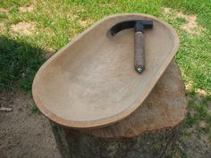 Dough bowl....so want one of these. from doughbowlmaker.com