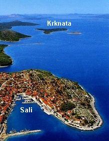 Krknata Sali in Kroatien