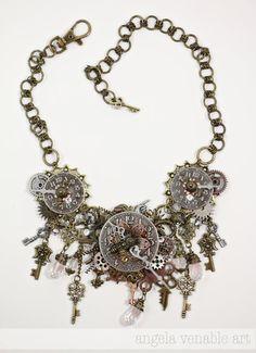 Steampunk Statement Necklace https://www.etsy.com/listing/156284680/steampunk-necklace-steampunk-jewelry