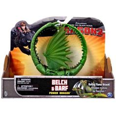 How to Train Your Dragon Power Dragons Belch & Barf Action Figure [Zippleback], Multicolor