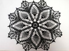 Zinnia crochet doily lace doily 11.5 colorful by EstersDoilies