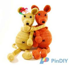 Danger Crafts-Henry and Henrietta (Archived) by Rebecca Danger-Free-Knitting and Crochet Communication-Knitting Patterns-PinDIY -