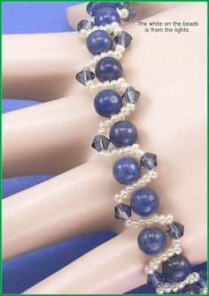 05257 Blue Brazilian Sodalite Gemstone and por annsbeadedjewelry, $27.50